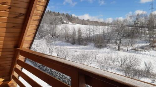 Widok z balkonu - Domki Bieszczady